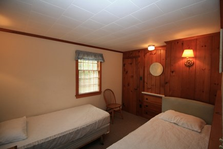 Dennis Port Cape Cod vacation rental - Bedroom with 2 twins and built-in bureau