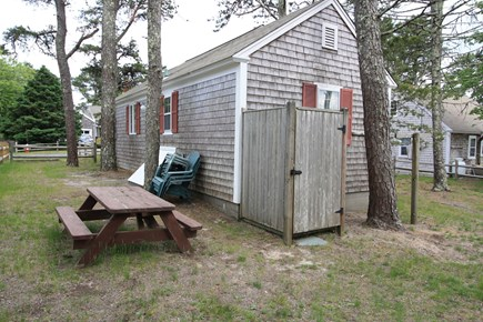 Dennis Port Cape Cod vacation rental - Cute little yard with an outdoor shower