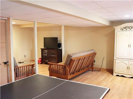 Hyannis Cape Cod vacation rental - Newly finished basement with rec room and media center