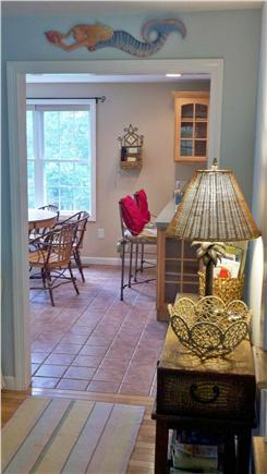 Hyannis Cape Cod vacation rental - Hall view to kitchen eating area