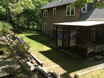 Wellfleet Cape Cod vacation rental - Lower level of back yard with screened porch