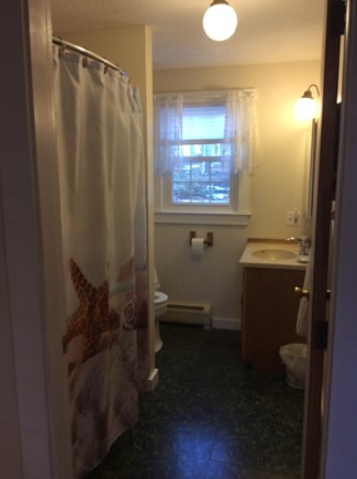 Wellfleet Cape Cod vacation rental - Main level bathroom with shower and tub combination