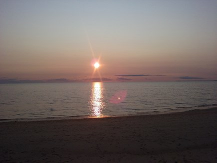 Eastham Cape Cod vacation rental - Grab your drink and stroll beach to watch fantastic sunsets.