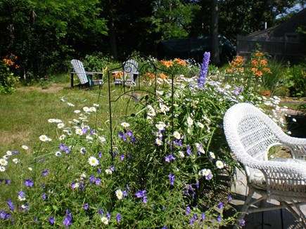 Eastham Cape Cod vacation rental - Large deck and back yard.  Great place for relaxing.
