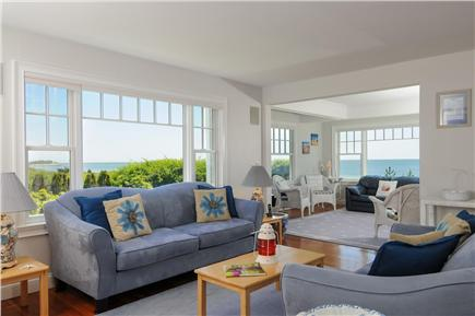 West Hyannis Port Cape Cod vacation rental - Living room with ocean view