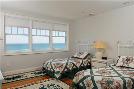 West Hyannis Port Cape Cod vacation rental - Bedroom with 2 twins and ocean view