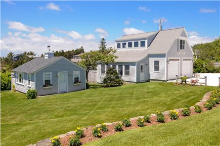 West Hyannis Port Cape Cod vacation rental - Side yard and cottage that sleeps 2