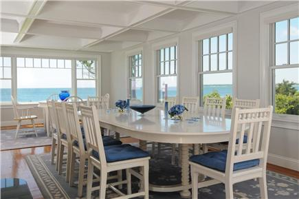 West Hyannis Port Cape Cod vacation rental - Dining room overlooking the ocean