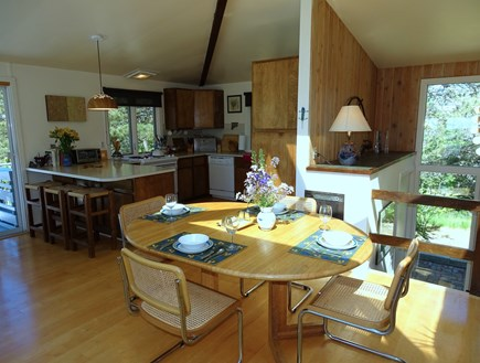 Truro Cape Cod vacation rental - Bright dining area, opens to kitchen with breakfast nook