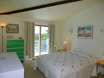 Truro Cape Cod vacation rental - Main floor queen bedroom with slider to deck, adjacent full bath