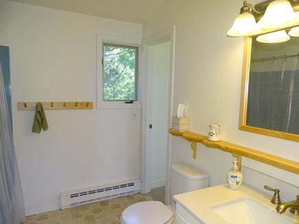 Truro Cape Cod vacation rental - Main floor bathroom with shower and tub