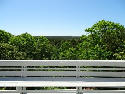 Truro Cape Cod vacation rental - Deck view overlooking Pamet Valley