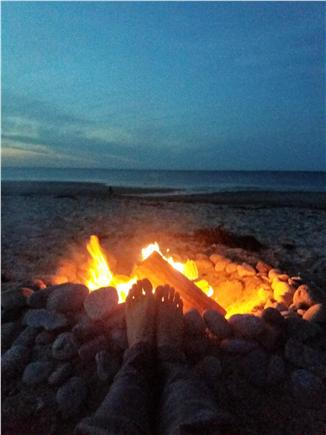 Sandwich Cape Cod vacation rental - Fire on the beach