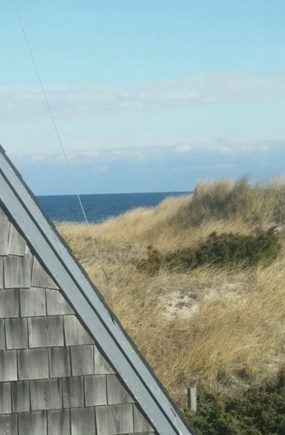 Sandwich Cape Cod vacation rental - Upstairs View over the dunes to Cape Cod Bay