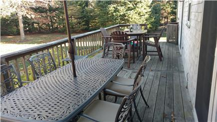 Chatham Cape Cod vacation rental - Large deck
