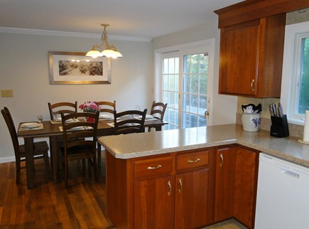 Chatham Cape Cod vacation rental - Dining area opens through slider to deck