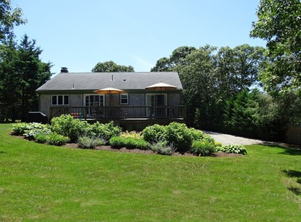Chatham Cape Cod vacation rental - Large back yard with deck, Outdoor shower