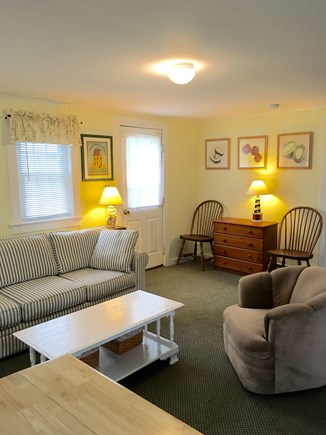 Chatham Cape Cod vacation rental - Living room with door to deck.