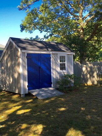 Chatham Cape Cod vacation rental - Large shed for bikes and beach gear.