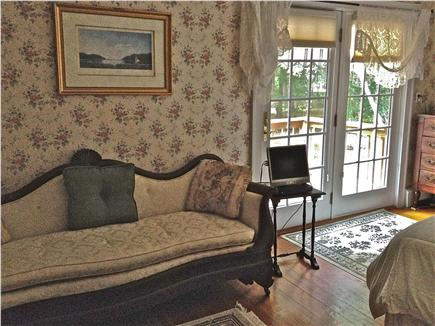 Barnstable Cape Cod vacation rental - Master Bedroom ~ View with deck