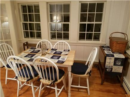 Dennisport Cape Cod vacation rental - The dining table seats 6 with a drop leaf table provided as well.