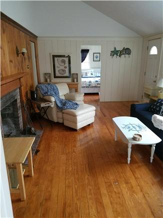 Dennisport Cape Cod vacation rental - The overstuffed leather chair is a great place for a nap