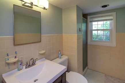 Falmouth, Belmar Cape Cod vacation rental - 2nd floor bathroom with step in shower.