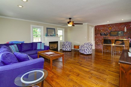 Falmouth, Belmar Cape Cod vacation rental - Family room with large flat screen TV and plenty of seating!