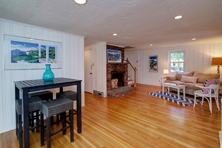 Falmouth, Belmar Cape Cod vacation rental - Separate living room with relaxing seating and a flat screen TV.