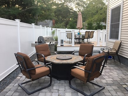 Mashpee, Popponesset Cape Cod vacation rental - Outside patio/ fire pit