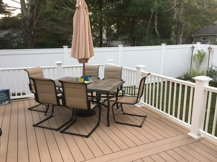 Mashpee, Popponesset Cape Cod vacation rental - Outside deck/seating