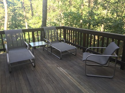 Wellfleet Cape Cod vacation rental - Partial view of east deck off living room