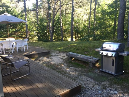 Wellfleet Cape Cod vacation rental - Deck with outdoor dining space and grill
