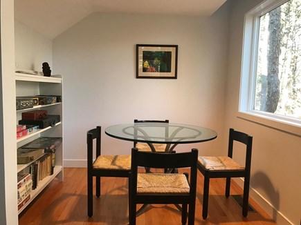 Wellfleet Cape Cod vacation rental - Breakfast/game nook adjoining living room