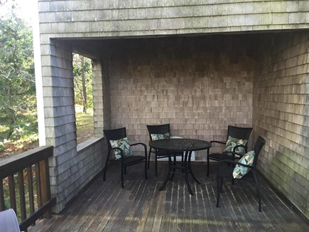 Wellfleet Cape Cod vacation rental - East deck (covered)