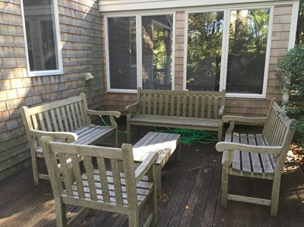 Wellfleet Cape Cod vacation rental - North deck
