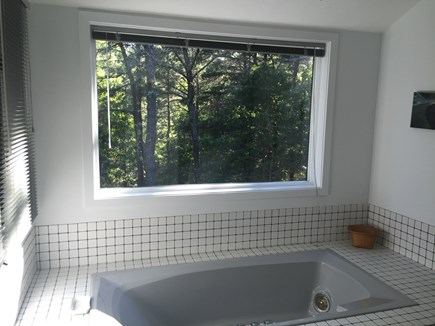 Wellfleet Cape Cod vacation rental - Jetted tub with picture window in master bath