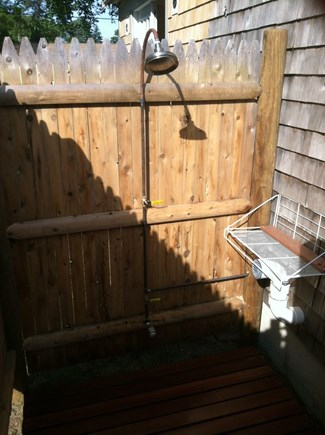 Yarmouth Cape Cod vacation rental - Outdoor shower.  awesome!  one handle, one nice temperature.