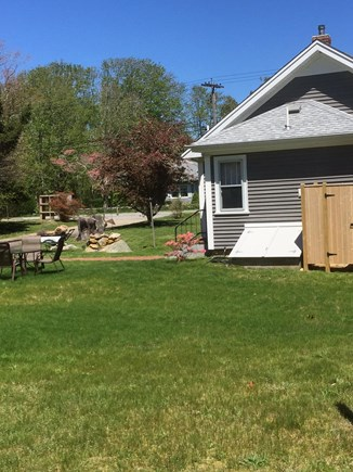 Brewster Cape Cod vacation rental - Rear yard w/outside shower