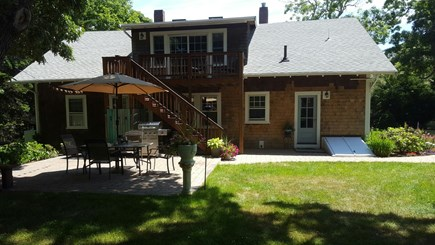 South Orleans Cape Cod vacation rental - Back yard exterior, great for volleyball