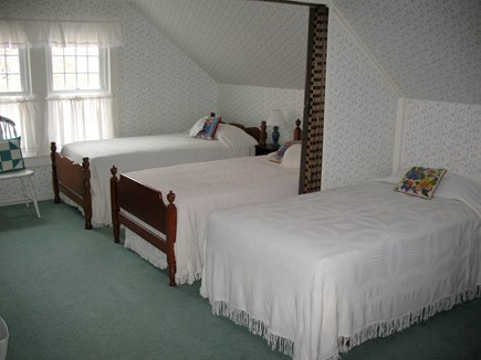 Falmouth Cape Cod vacation rental - Dorm-style bedroom - great for kids!  (One twin bed not shown.)