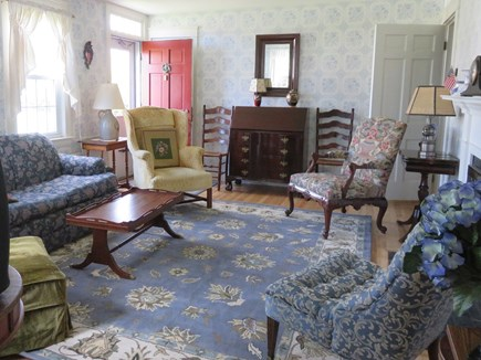 Falmouth Cape Cod vacation rental - Bright and comfortable living room (includes flat screen TV)
