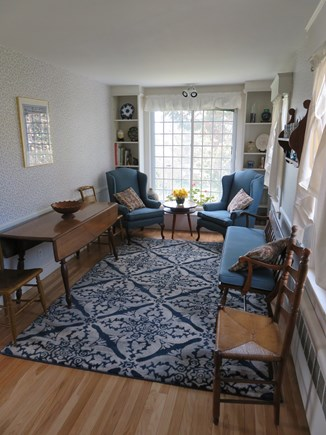 Falmouth Cape Cod vacation rental - Spacious dining room (seating for 6-8) - distant view of harbor
