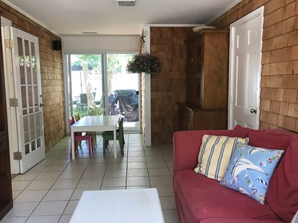 West Harwich Cape Cod vacation rental - Relaxing breezeway with TV and full couch