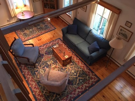 East Orleans Cape Cod vacation rental - Living Room with cathedral ceiling