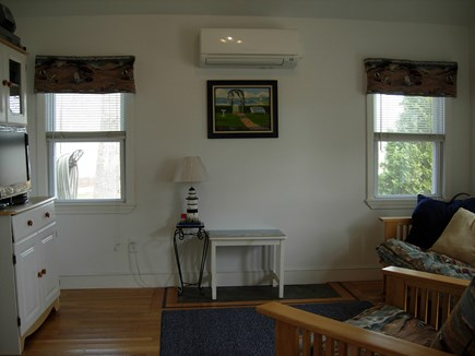 West Yarmouth Cape Cod vacation rental - Kokomo Living Room with Ductless Mini Split Wall Unit for AC.
