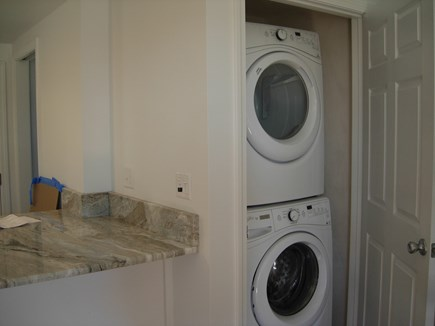 West Yarmouth Cape Cod vacation rental - New Full size Washer / Dryer inside the Closet.
