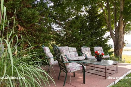 Pocasset, Bourne Pocasset vacation rental - Side deck is great for late day sun