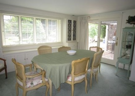 Brewster Cape Cod vacation rental - Enjoy a family dinner in this comfortable dining area