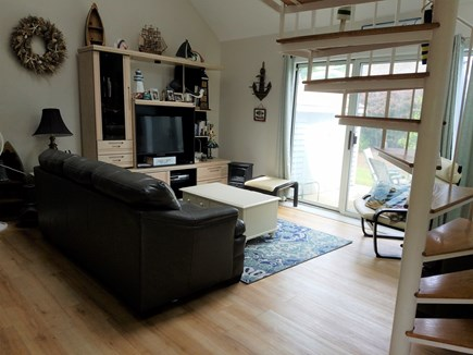 Brewster Cape Cod vacation rental - Bright living room with slider to the patio